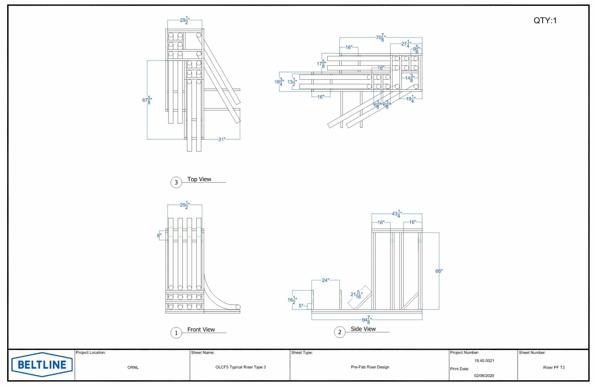 Riser Racks Drawing
